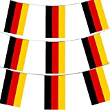 100FT 30 METERS GERMAN FLAG BUNTING GERMANY PARTY EURO DECORATION LARGE EUROPEAN HUGE 20 X 30CM OKTOBERFEST ALL WEATHER PLASTIC BUNTING BAVARIAN GERMAN FLAGS GERMANY FLAG EVENT BANNER SCHOOL GERMANY NATIONAL DAY GERMAN THEME