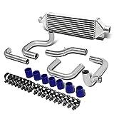 For Civic/Del Sol/CRX/Integra Silver Aluminum Front Mount Intercooler+Piping Kit