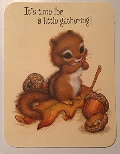 Thanksgiving Dinner Invitations (Hallmark Adorable Squirrel
