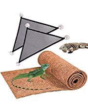 Hamiledyi(4 Pack Reptile Carpet Pet Terrarium Liner Reptile Mat Lizard Hammock Bearded Dragon Bedding Substrate Supplies for Gecko Turtle Snake Chameleon 35'' x 15''