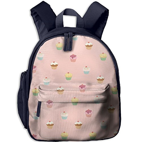 Cute Cupcake Printed Kids School Backpack Cool Children Bookbag Navy by PENTA ANGEL