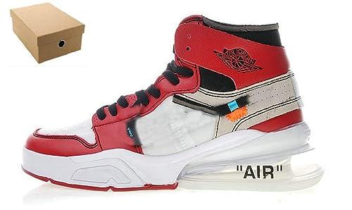 Off White X AJ 1 X Air Force 270 Zapatillas de Gimnasia Chicago A3834-101 Zapatillas para Hombre: Amazon.es: Zapatos y complementos
