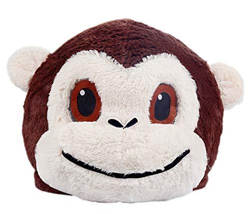 Plush Monkey Animal Head Mask Halloween Monkey Mascot Costume -