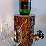 Wine Dispenser, The Original Real Wood Log Wine Dispenser, New and Improved!