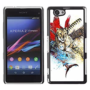 CASETOPIA / Abstract Illustration / Sony Xperia Z1 Compact D5503 / Prima Delgada SLIM Casa Carcasa Funda Case Bandera Cover Armor Shell PC / Aliminium