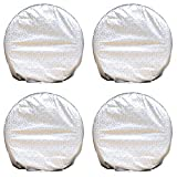 "NEVERLAND Set of 4 Tire Covers, Waterproof Aluminum Film Tire Sun UV Protectors Fits 27"" to 29"" Tire Diameters RV Trailer Camper Car Truck"