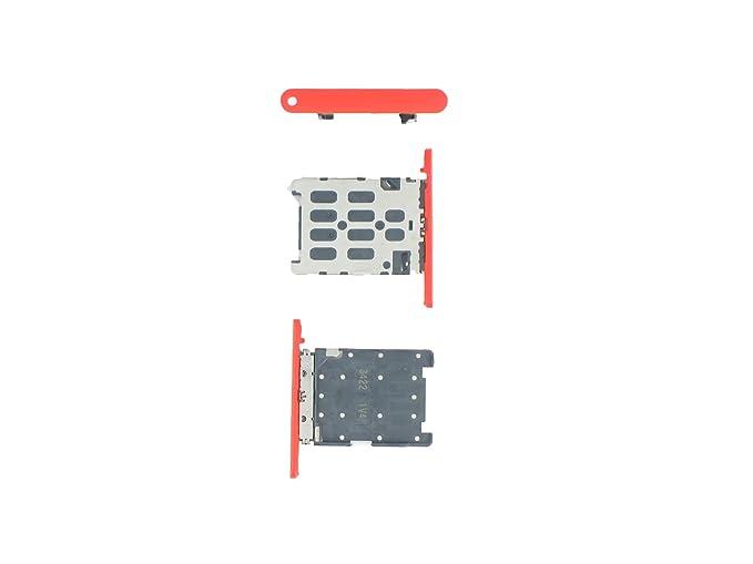 Auténtica Nokia Lumia 720 rojo bandeja de tarjeta Sim de ...