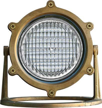 DABMAR LIGHTING LV308-LED4-BS Solid Brass LED Pond/Fountain Underwater Light, Brass