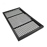 Iron Folding Grill Table for Camping, BBQ Net Table
