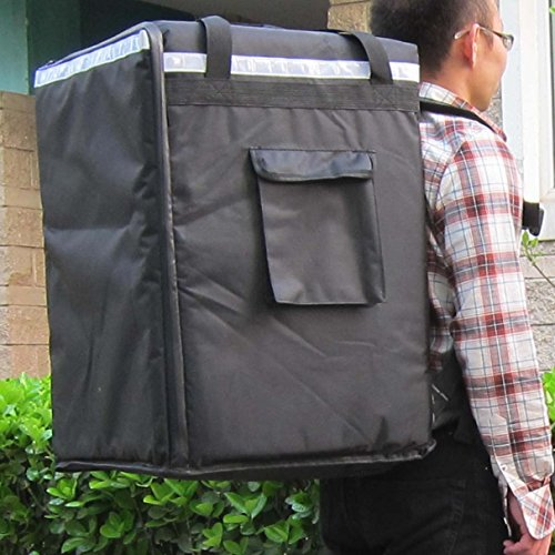 PK-96Z: Extra Large Pizza and Food Take Out Bag, Heavy Duty Thermal Bag, Side Loading, 2-Way Zipper Closure, 16