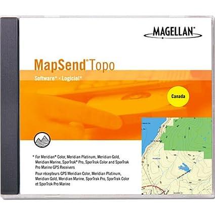 Amazon.com: Magellan mapsend Canadá Mapa Topográfico CD-ROM ...