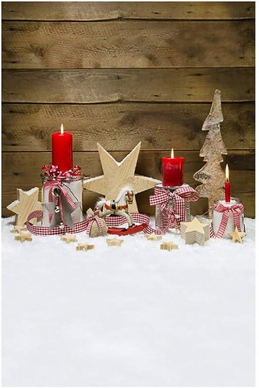 JiaMeng Decoración del hogar Antecedentes de Navidad Calabaza ...