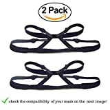 CPAP Headgear Strap: Universal ResMed & Respironics Straps for CPAP / BIPAP Mask, No Air Leaks Ultimate Comfort Tight Seal & Perfect Fit Compatible w/ Full Face & Nasal Apnea Masks 2-Pack