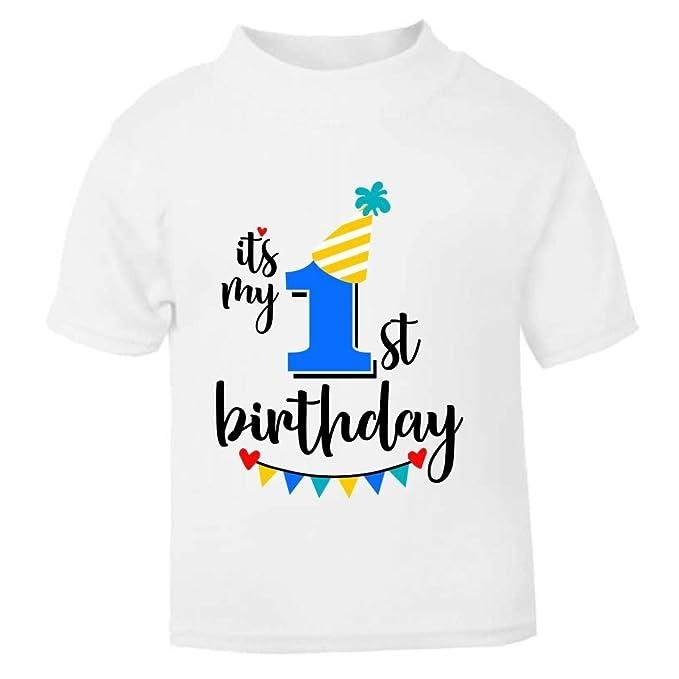 a437aa9c4 It's My 1st First Birthday T-Shirt - Childrens Kids T Shirt Boys Cake Smash  (1-2 Years): Amazon.co.uk: Baby