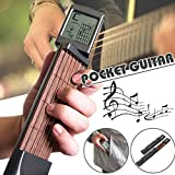 Forart Pocket Guitar Practice Tool Portable Chord Trainer Beginner Practice Tool with Rotatable Chords Chart Screen(Ship from USA)