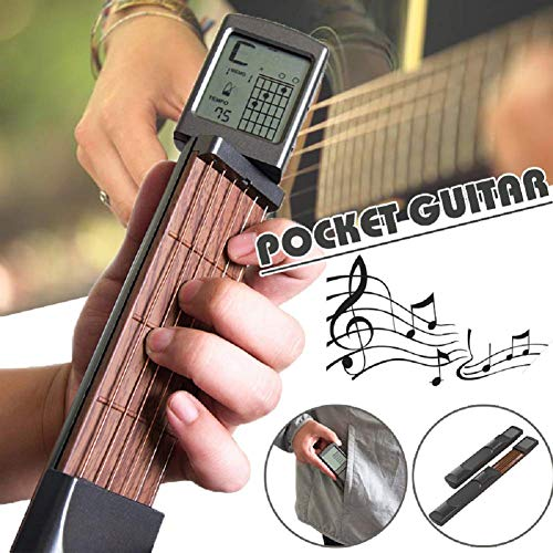 Forart Pocket Guitar Practice Tool Portable Chord Trainer Beginner Practice Tool/Portable with a Rotatable Chords Chart Screen (Best Guitar Practice Tools)