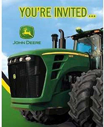 John Deere Birthday Party Invitations, 8 Count