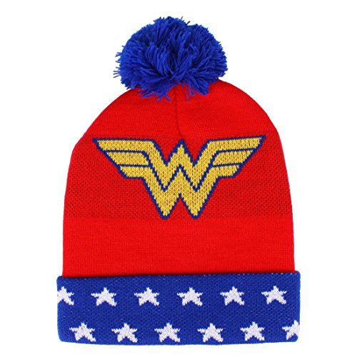 Woman borla Wonder DC rojo Gorro azul de con Comics FTUnqxwAI5