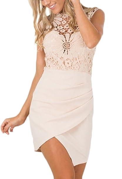 purchase cheap c70a6 8b940 Donna Vestiti Eleganti In Pizzo Estivi Cerimonia Sposa Corti ...