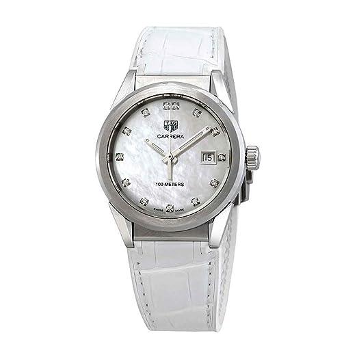 Tag Heuer WBG1312.FC6412 - Reloj para Mujer con Esfera de nácar y Diamantes: Amazon.es: Relojes