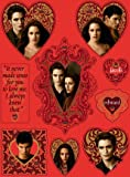 Twilight Saga Heart Shaped Stickers