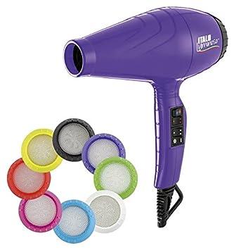 Babyliss Pro - Secador luminoso ionico, 6 ajustes de calor y velocidad, 2100 W, color violeta: Amazon.es: Salud y cuidado personal