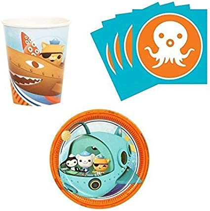 Amazon.com: Octonauts Fiesta de cumpleaños suministros set ...