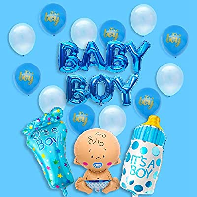 ITS A GIRL Balloons Baby Shower Party Decorations Latex BALOONS Its a Boy Blue