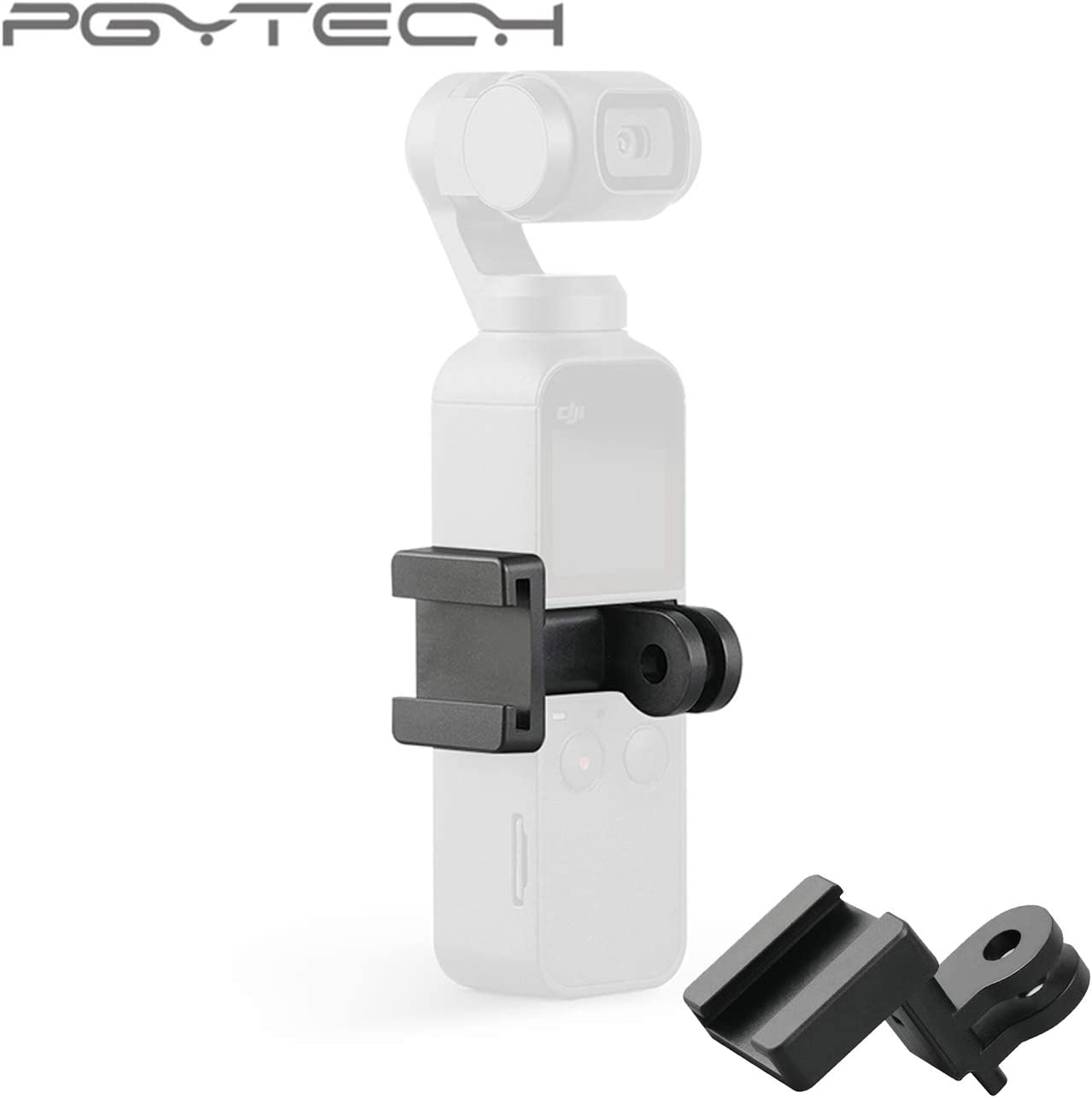 Original Smartphone Mic Microphone Audio Adapter TRS Plug Vlogging Compatible with DJI OSMO Pocket DJI Genuine 3.5mm Microphone Adapter+PGYTECH Phone Holder Plus+MM1 Pro Video Microphone