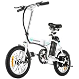 ANCHEER Folding Electric Bike, 16 Inch