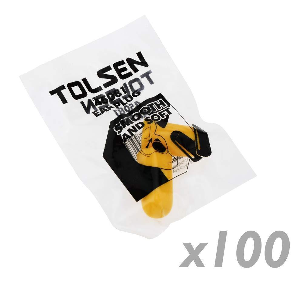 Tapones para los oidos de espuma 100 pares de herramientas Tolsen