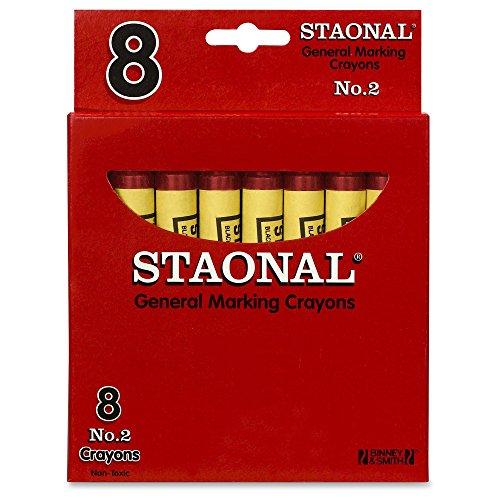 (Crayola Staonal General Marking Crayons, Red)
