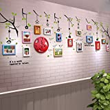 ALUS- 15 Boxes Children Room Real Wood Frame Wall Simple Modern Photo Wall Stickers Living Room Aisle Restaurant Office Decorated Large Wall Photo Frame Wall ( Color : #1 )
