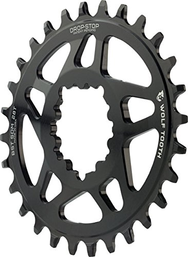 Wolf Tooth Components Elliptical Drop-Stop Chainring: 28T...
