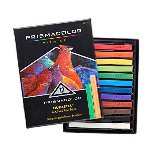 Prismacolor NuPastel Artists Pastels, Assorted Colors, Pack of 12