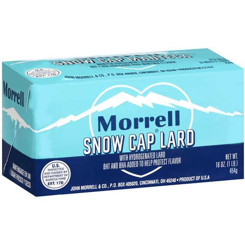 Morrell Snow Cap Lard 16 Oz (Pack of 3)