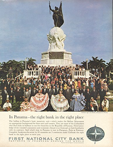 1966-ad-balboa-monument-panama-in-citibank-first-national-city-bank-original-vintage-advertisement