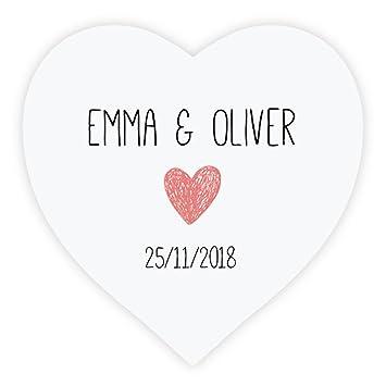 Ekunstreet 90pcs personalised love heart wedding favour stickersenvelopes sealssweet bag labels