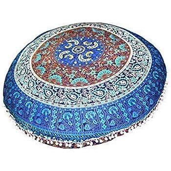 Amazon.com: FashionShopmart Ottoman/Floor Pouf Cover/Pillow ...