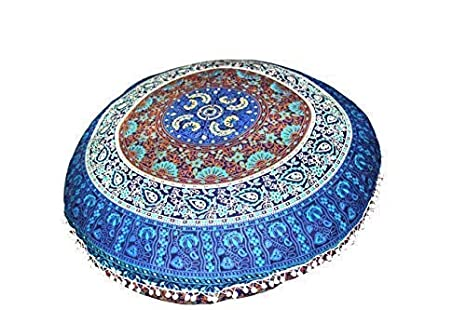 Amazon.com: FashionShopmart Ottoman/Floor Pouf Cover/Pillow ...
