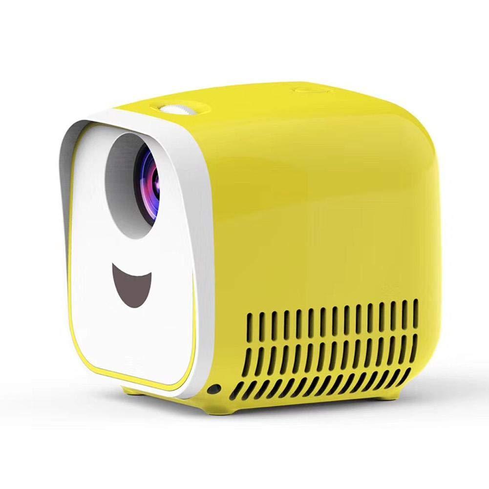 Blue-Yan Proyector Full HD 1080P Compatible con Interfaz De Tarjeta HDMI//USB//TF Proyector De Video De Cine En Casa L1 Micro LED 2.8 Metros Pueden Proyectar Pantalla Grande De 80 Pulgadas
