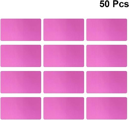 EXCEART Biglietto da Visita Personalizzato 0.2Mm in Alluminio Anodizzato Colorato Biglietto da Visita Macchina per Incidere Macchina per Incidere E Incisione Cnc Disponibile 50 Pezzi Blu