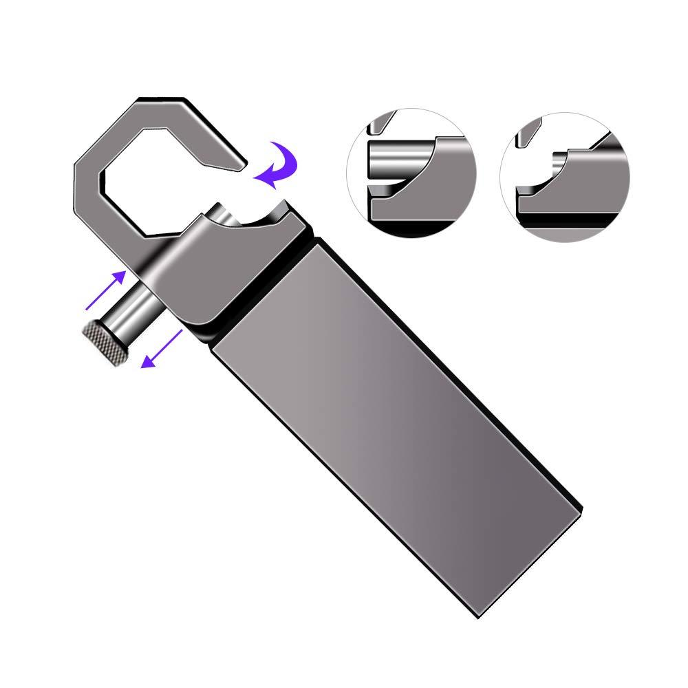 Mini Pendrive 64GB USB Stick Impermeable Metal Unidad Flash 64 GB con Llavero Colgante para Almacenamiento de Datos Externo Memorias USB 64 GB
