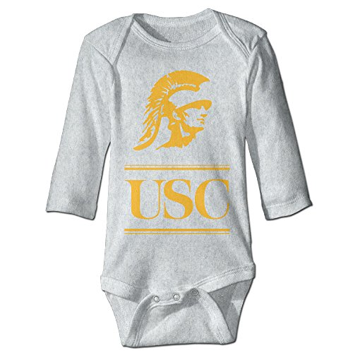 NINJOE Babys Usc Trojans Football Long Sleeve Baby Climbing Clothes Ash 6 M