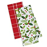 DII Cotton Christmas Holiday Decorative Dish Towels