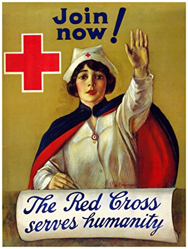 "8""x10"" Poster for home decoration.Join Now the Red Cross.Nur"