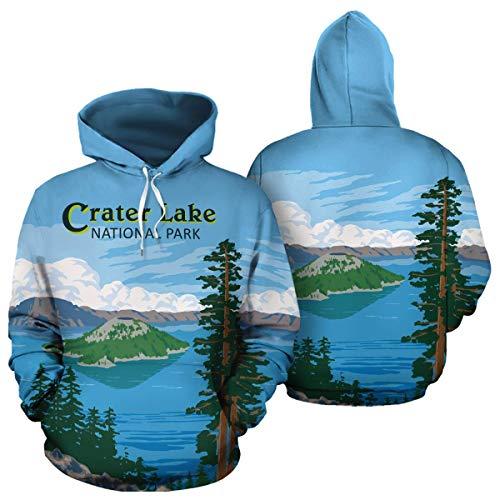 Crater Lake National Park Unisex Pullover Hoodies Hooded Sweatshirts Birthday Christmas Mountain Climbing Mountaineering Hiking Trekking Gifts For Men Women Climbers Hikers Mountaineers Lovers (Crater Mountain Hoodie)
