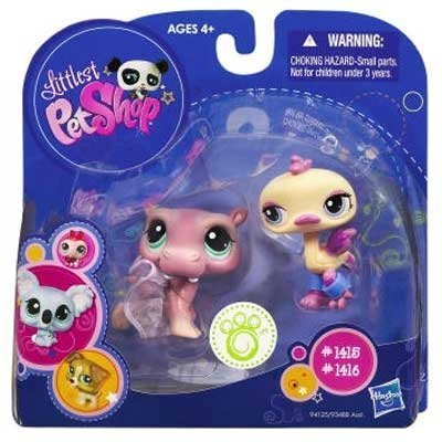 mas preferencial Littlest Pet Shop 2010 Assortment Assortment Assortment 'B' Series 2 Collectible Figura Hippo & Ostrich by Hasbro  preferente