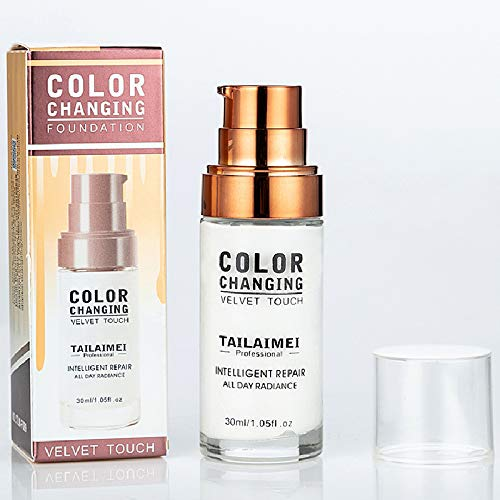 Concealer Cover,Flawless Colour Changing Foundation Makeup Base Nude Face Liquid Cover Concealer (1)