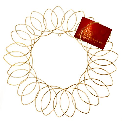 Gold Wreath Christmas Card Holder